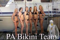 PA Bikini Team First Group Shot at Fox Chapel Yacht Club in 2004