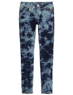Embellished Dye Effect Super Skinny Jeans | Super Skinny | Jeans | Shop Justice size 5