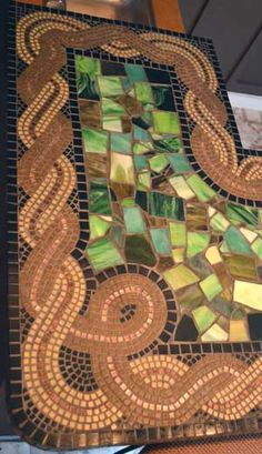 mosaic bar detail