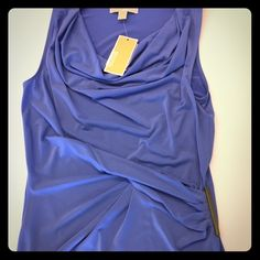 NWT Michael Kors Small Sleeveless Top Brand new with tags, Michael Kors, color is called crew blue. Comfy stretchy polyester material. Michael Kors Tops Blouses
