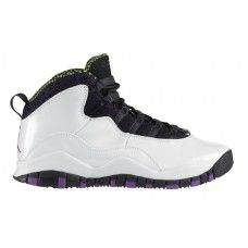 Unmatched quality sneakers!Air Jordan 10 GS Violet Pop White Violet Pop Cyber Black 487211-120
