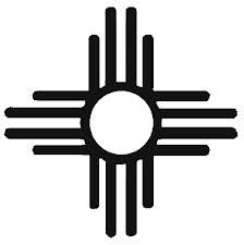 NATIVE AMERICAN DESIGN Use this Native American design representing the sun to print on a t-shirt using this sandpaper printing method.