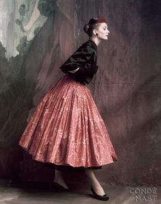 Suzy Parker in Givenchy, 1953 by John Rawlings
