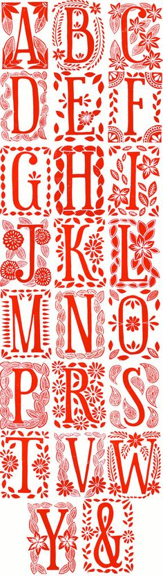 gorgeous hand block-printed monogram cards by katharine watson on etsy.