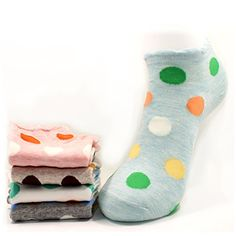 COCOHANA 5 Pairs Casual Cotton Fashion Crew Socks Women Socks >>> Check this awesome product by going to the link at the image.