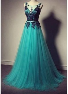 USD$149.00 - Elegant Lace Tulle Long Prom Dress with Belt Cheap Sweep Train Plus Size Dresses for Women - www.suzhoudress.com