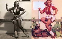 As verdadeiras mulheres por trás das ilustrações de pin-ups - Mega Curioso