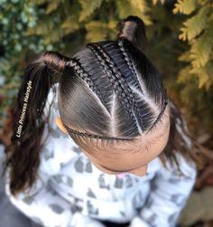Dutch braids with pigtails . Kids Braided Hairstyles, Princess Hairstyles, Girl Hairstyles, Braids For Kids, Toddler Hair, Braid Styles, Healthy Hair, Hair Goals, Hair And Nails