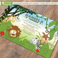 Wild safari birthday Printable safari by MyPrintableMiracles