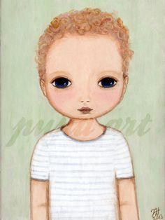 Little red hair anjel boy - custom painting by Pupa Art.