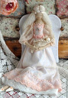 Купить Все мамы - Ангелы! - бежевый, ангел, оберег, кукла-оберег, материнство, лен, хлопок