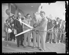Sears Plaza Ribbon Cutting Ceremony 1951: SFV