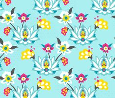 Arabian Floral fabric collection by zesti on Spoonflower - custom fabric