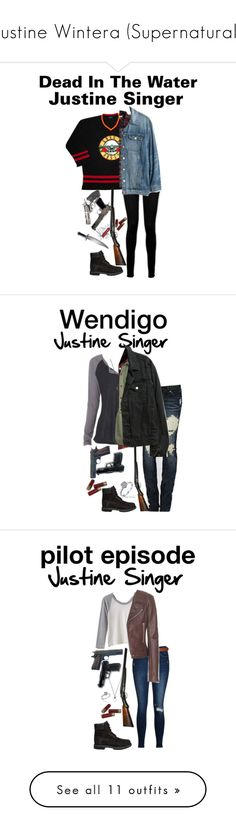 """""""Justine Wintera (Supernatural)"""" by j-j-fandoms ❤ liked on Polyvore featuring NIC+ZOE, Paige Denim, Timberland, Vans, Madewell, Victorinox Swiss Army, Charlotte Russe, Aerie, DK and FOSSIL"""