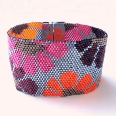 """Bracelet Ketiko manchette """"SEVENTIES"""" à grosses fleurs : Bracelet par ketiko"""