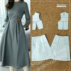 Stylish Dresses, Simple Dresses, Fashion Dresses, Mode Abaya, Mode Hijab, Dress Sewing Patterns, Clothing Patterns, Sewing Clothes, Diy Clothes