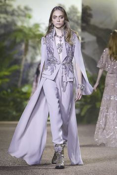 Elie Saab Couture Spring Summer 2016 Paris...Wow beautiful details to recreate. Imagine this in bridal tone & fabric. Let your imagination reach the sky for that ultimate bridal pantsuit.