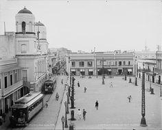 Plaza de Armas de San Juan,años 30,Puerto Rico.