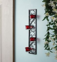 Chic Wrought Iron Wall Candle Holders You Will Admire