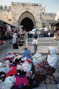 Merchant Near the Damascus Gate, Jerusalem, ISRAEL