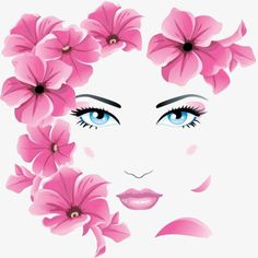 Find Girl Floral Face stock images in HD and millions of other royalty-free stock photos, illustrations and vectors in the Shutterstock collection. Arte Pop, Illustration Blume, Floral Illustrations, Beauty Illustrations, Face Art, Fantasy Art, Pop Art, Art Drawings, Art Projects