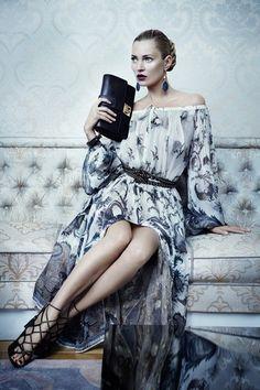 Kate Moss & Karmen Pedaru for Salvatore Ferragamo's Fall 2012 Campaign by Mikael Jansson