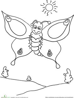 Worksheets: Color the Butterfly