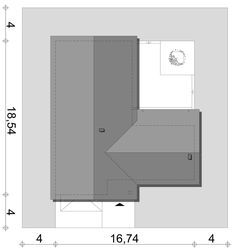 Projekt Ponza | Słoneczne Domy Courtyard House, House Plans, Floor Plans, Flooring, How To Plan, Design, Home Plans, Home Layouts, Plants