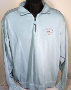 Tommy Bahama Mens Large Long Sleeve Half Zip Pullover Sweater Jacket #TommyBahama #12Zip