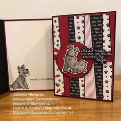 Strip Cards, Dog Cards, Stamping Up Cards, Animal Cards, Crazy Dog, Creative Cards, Making Ideas, Fur Babies, Cardmaking