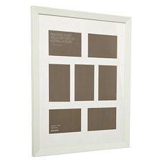 "Buy John Lewis Multi-aperture Gallery Frame, White, 7 Photo, 4 x 6"" (10 x 15cm) Online at johnlewis.com"