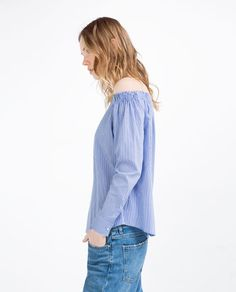 Image 4 of OFF-THE-SHOULDER TOP from Zara