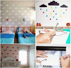 Casa Montada: Como Estampar a parede das crianças usando Papel Contact
