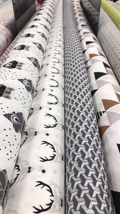 tissus coton imprimé raton laveur, cerf et coton graphique