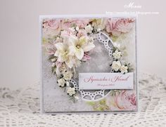 Moja papierowa kraina, Card with Marianne Design oval frame with flowers