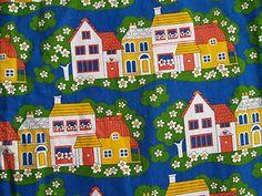 Jonelle Duracolour 60s 70s Daisy Walk Print Curtains Fabric