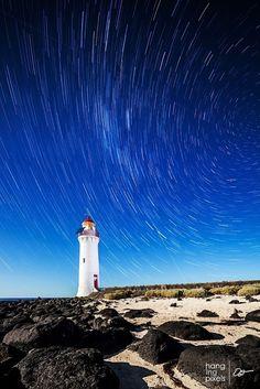 Port Fairy Lighthouse Star Trails by Oat Vaiyaboon on 500px