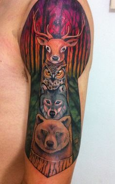 Animals totem tattoo