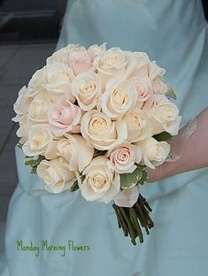 ivory and pink wedding bouquets