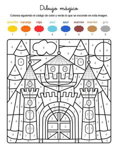If your child has the whole motif on the free coloring page with the colors . Summer Coloring Pages, Free Coloring Pages, Color By Numbers, Paint By Number, Motivational Wallpaper Iphone, 2nd Grade Math Worksheets, Indoor Activities For Toddlers, Needlepoint Stitches, Activity Sheets