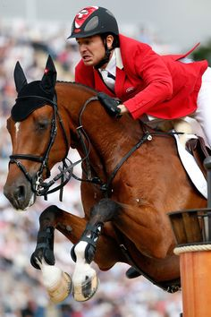 Nino Des Buissonnets and Steve Guerdat - 2012 Olympic Show Jumping individual gold medalists