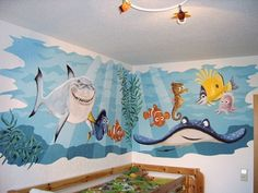ocean mural Ocean Room, Ocean Nursery, Nursery Room, Kids Bedroom, Nursery Decor, Sea Murals, Ocean Mural, Wall Murals, Mural Painting