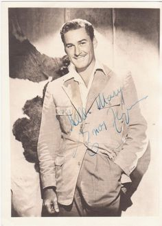 Autographed Errol Flynn Photo #ErrolFlynn