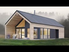 Amazing Simple and Elegant Koia Modern Cabin from Norgeshus - Architecture Small Modern House Plans, Modern Barn House, Barn House Plans, Small Modern House Exterior, Small Modern Cabin, Modern Cabins, Modern Cottage, Cabin Plans, Cabin Design