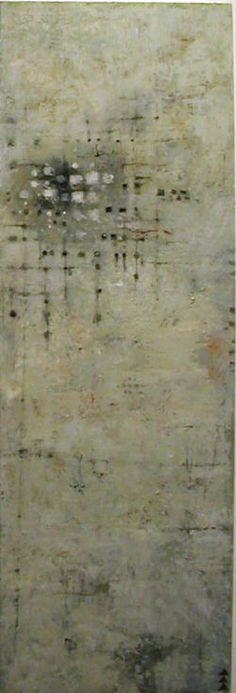 'Evidence' (c.2012) by Wisconsin-based American painter Tom Sergeant. Acrylic on canvas, 36 x 12 in. via Grace Chosy Gallery