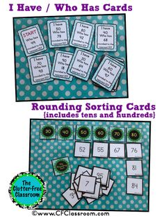 Clutter-Free Classroom: Rounding Tips, Games and Activities {Common Core Math 3.NBT.1 and 4.NBT.3}