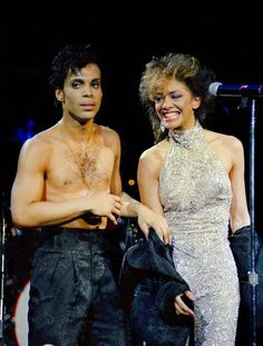 Prince and Sheila E. Parade Tour! Probably an Encore actually for Sheila E's solo tour! Very cool outfit Prince is wearing, seldom seen in that era!