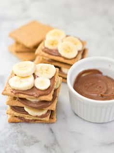 "Easy Graham Cracker Banana Chocolate ""cake"". No bake and easy, delicious treat for the kids!"