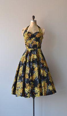 Desert Juniper dress vintage 1950s dress black by DearGolden