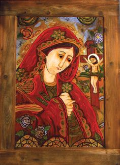 Romanian icon.....Desis figure Religious Icons, Religious Art, Vintage Wall Art, Vintage Walls, Blessed Mother Mary, Madonna And Child, Orthodox Icons, Altars, Sacred Heart